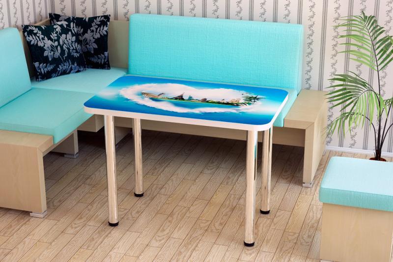 Стол с прямыми ножками